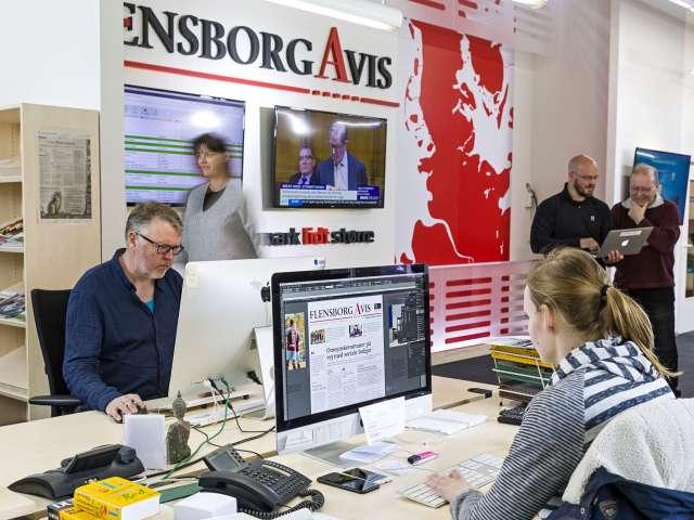 Indblik i avisens moderne mediehus i Flensborg