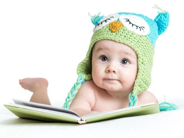 Baby med bog