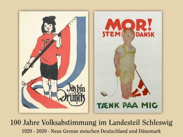 Tysk og dansk valgplakat fra 1919 og 1920