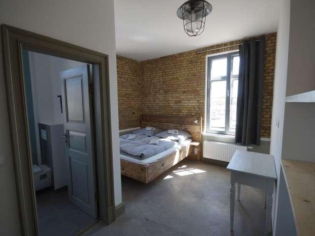 Dobbeltværelse med eget badeværelse på vandrehjemmet Seemannsheim i Flensborg