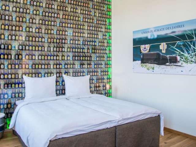 Temaværelse designet i samarbejde med bryggeriet Flensburger Brauerei på Hotel Alte Post i Flensborg