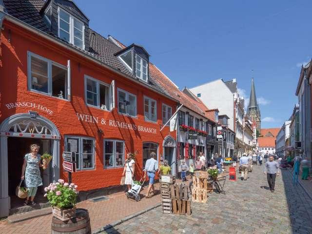 Braasch's vin- og romhus på Røde Gade i Flensborg