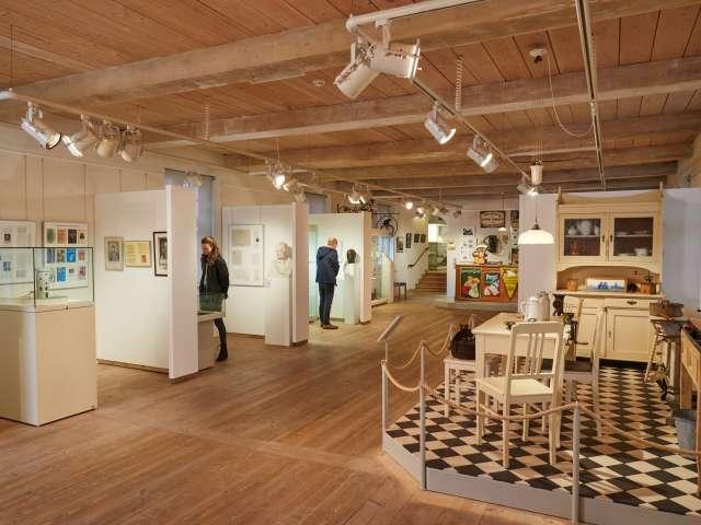 Udstilling om byens kulturelle historie på bymuseet i Egernførde