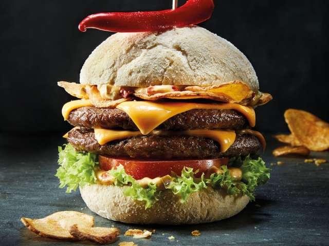 Double Burger på Peter Pane Burgergrill & Bar i Flensborg