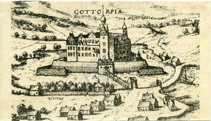 Gottorp Slot set sydfra i 1584