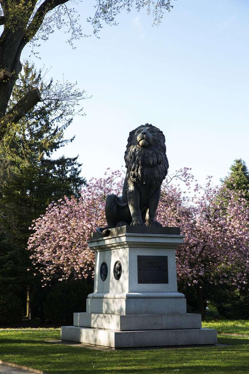 Istedløven på den gamle kirkegård i Flensborg