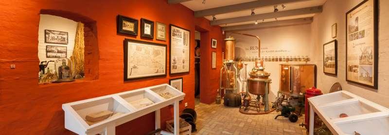 En del af udstillingen på Braasch Rum Manufaktur Museum på Røde Gade i Flensborg