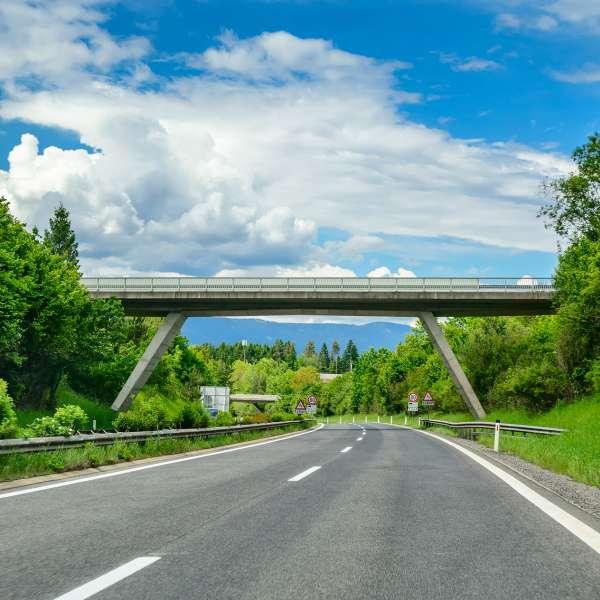 Et sted på den tyske motorvej.