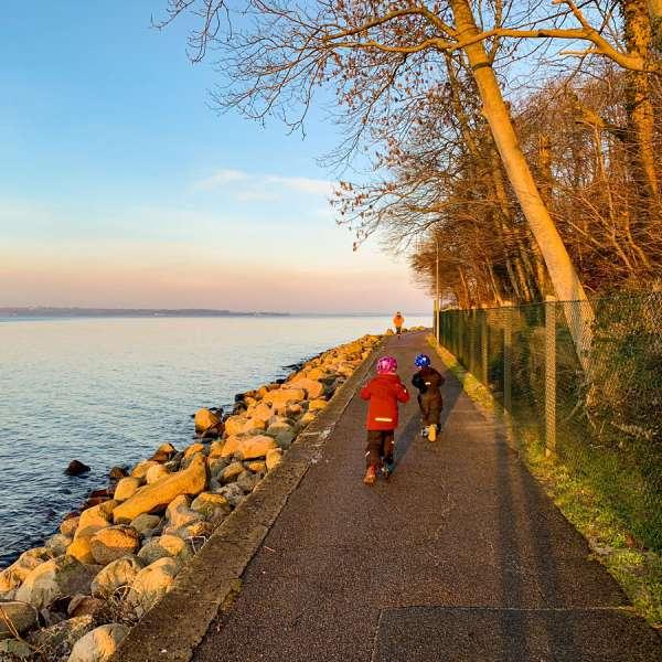 En del af det gamle afsnit af promenaden i Lyksborg langs Flensborg Fjord