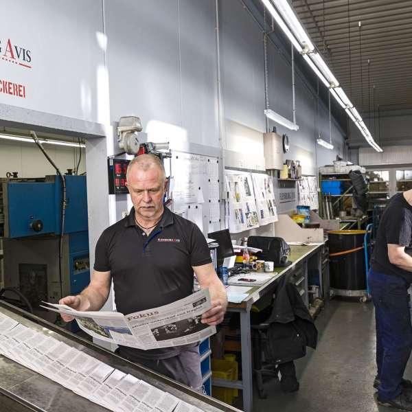 Avisen bliver til på bladhuset i Flensborg