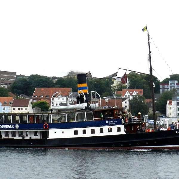 Dampskibet Alexandra i Flensborg Havn