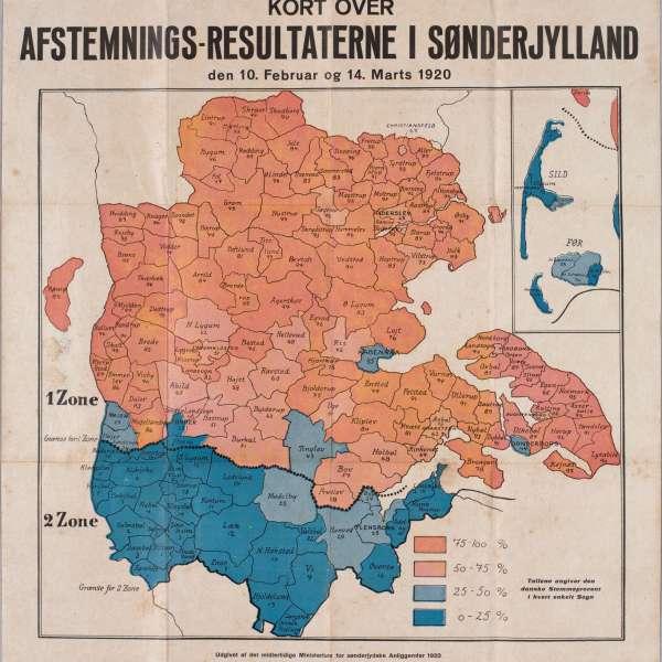 Det danske mindretal i kejsertiden. Afstemningsresultater fra afstemningen i 1920.