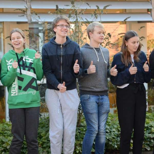 Gruppebillede af Grænseforeningens Elevambassadører