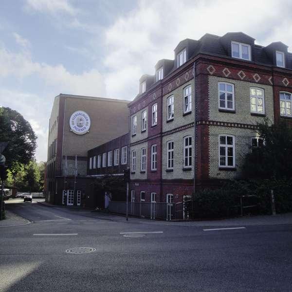 Hovedbygningen af Flensburger Brauerei i Flensborg