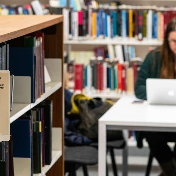 Læsesalen i Den Slesvigske Samling på Dansk Centralbibliotek for Sydslesvig i Flensborg