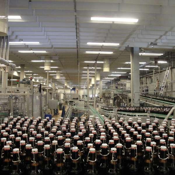 Påfyldningsanlægget på rundvisningen på Flensburger Brauerei i Flensborg