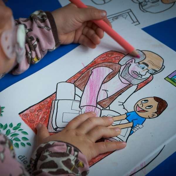 Aktiviteter for børn på Slægtsforskerdagen på Dansk Centralbibliotek for Sydslesvig i Flensborg