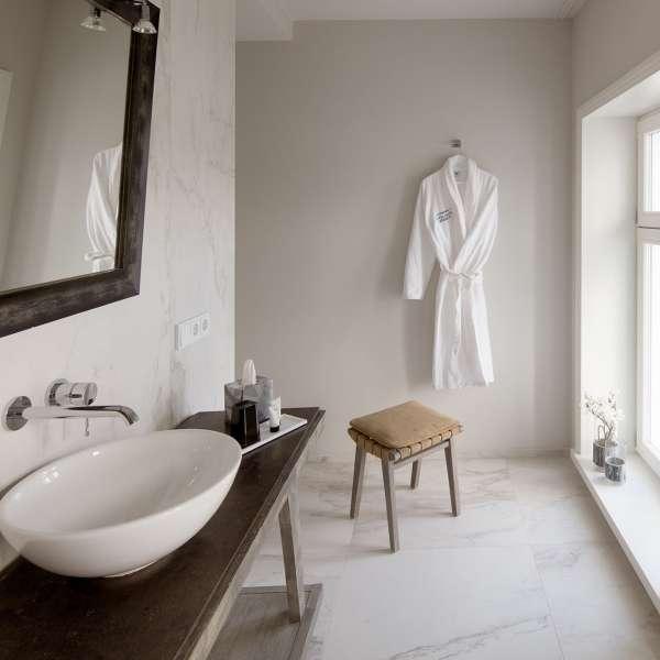 Badeværelse på et af værelserne på Hotel Hafen Flensburg i Flensborg
