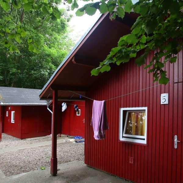 Blokhusene på vandrehjemmet i Borgvedel ved Slesvig