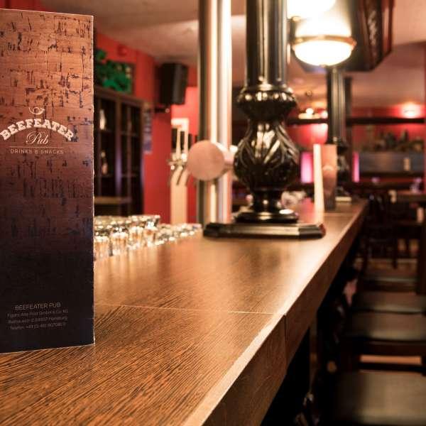 Den engelske pub Beefeater på Hotel Alte Post i Flensborg
