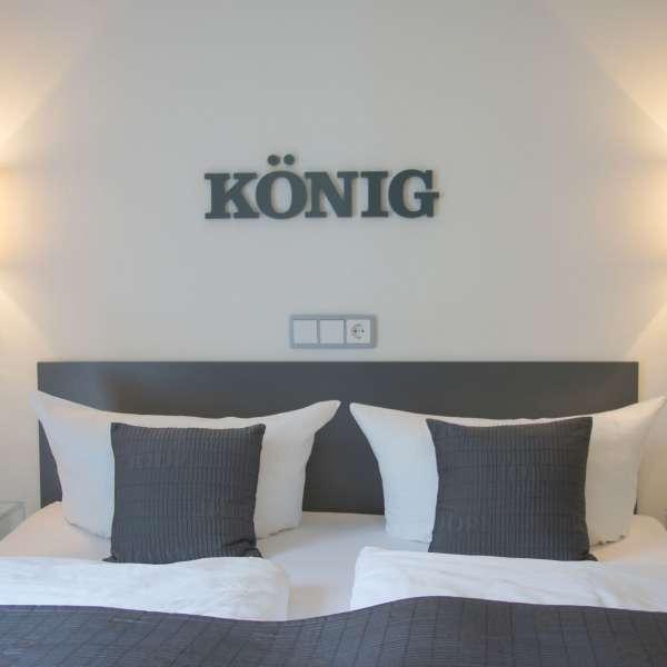 Et af dobbeltværelserne på Hotel 1690 i Rendsborg