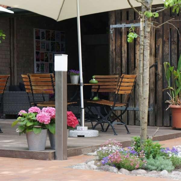 Have med terrasse på Hotel 1690 i Rendsborg