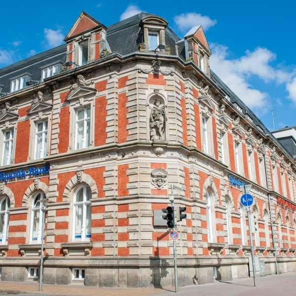 Hotel Alte Post i Flensborg set fra gaden