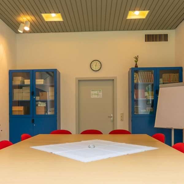 Lille arbejdslokale på lejrskole og kursuscentret Christianslyst ved Sønderbrarup