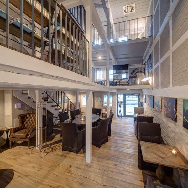 Lounge-arealerne på Hotel Hafen Flensburg i Flensborg