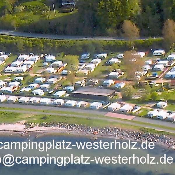 Luftbillede af Campingplatz Fördeblick i Westerholz