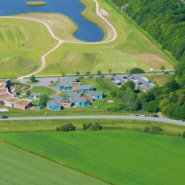 Luftbillede af vandrehjemmet i Nibøl