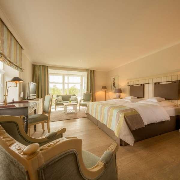 Deluxe-værelse på Vitalhotel Alter Meierhof i Lyksborg