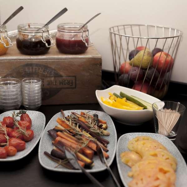 Morgenmadsbuffet på ONNO Hotel by Norman i Rendsborg