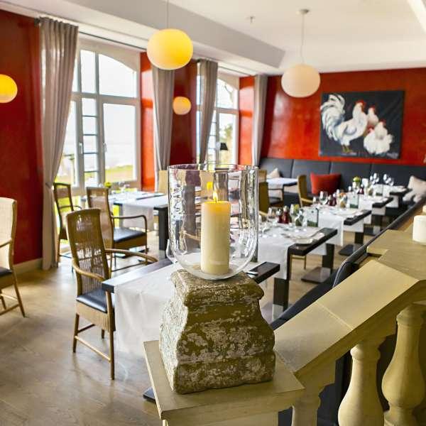 Restauranten Brasserie på Vitalhotel Alter Meierhof i Lyksborg