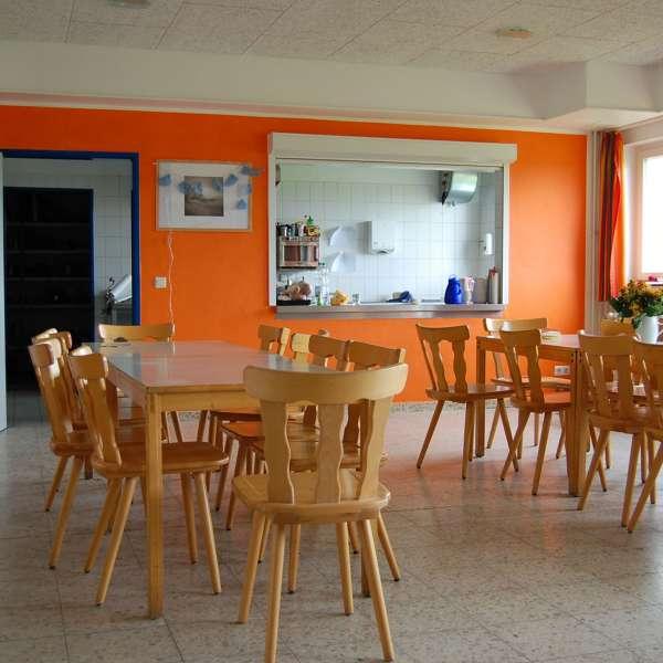 Spisesal hhv. aktivitetsrum på vandrehjemmet i Masholm