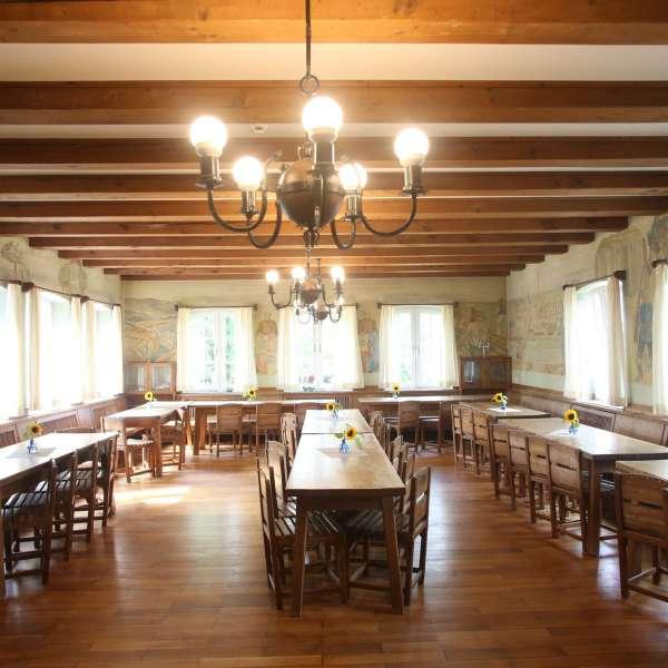 Spisesalen i frisisk stil på vandrehjemmet i Husum