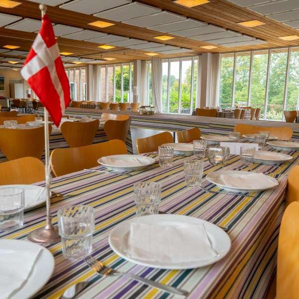 Spisesalen på lejrskole og kursuscentret Christianslyst ved Sønderbrarup