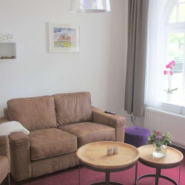 TV-rummet på Hotel 1690 i Rendsborg