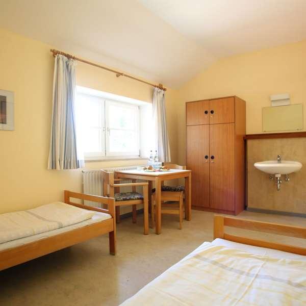 Twin-værelse på vandrehjemmet i Kappel