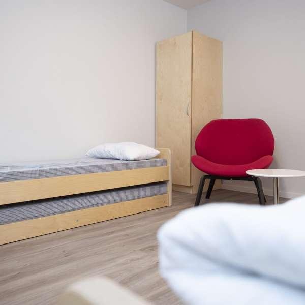 Værelse på lejrskolen Skipperhuset i Tønning