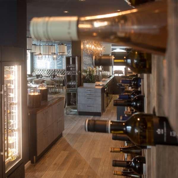 Vinlageret på restaurant Columbus på Hotel Hafen Flensburg i Flensborg