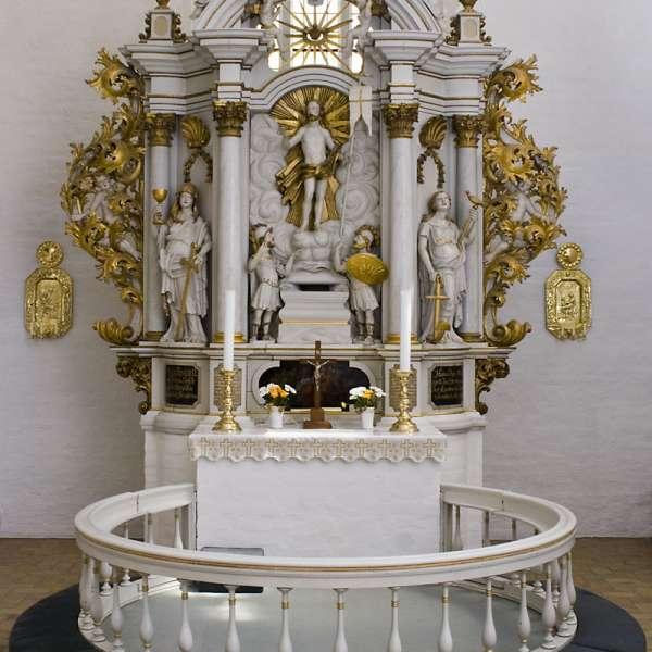 Alteret i Helligåndskirken i Flensborg