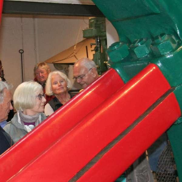 Besøgende på Kobbermølle Industrimuseum i Harreslev ved Flensborg