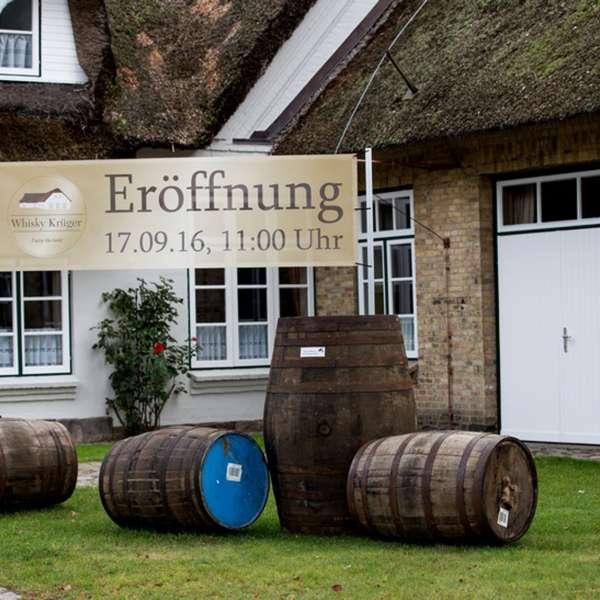 Butikken på Whisky-museet i Holtbunge ved Rendsborg