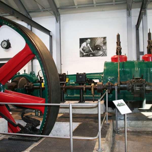 Dampmaskine på Kobbermølle Industrimuseum i Kobbermølle ved Flensborg