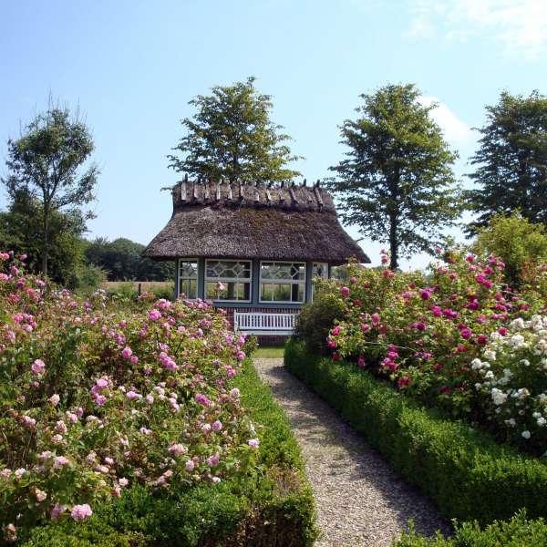 Et lille havehus på Landschaftsmuseum Angeln/Unewatt i Unevad