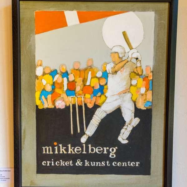 Et maleri på Mikkelberg - Nordisk center for kunst og cricket i Hatsted