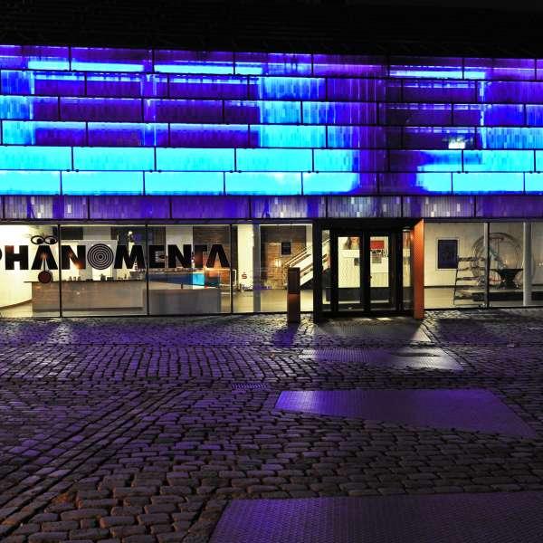 Phänomenta i Flensborg om natten
