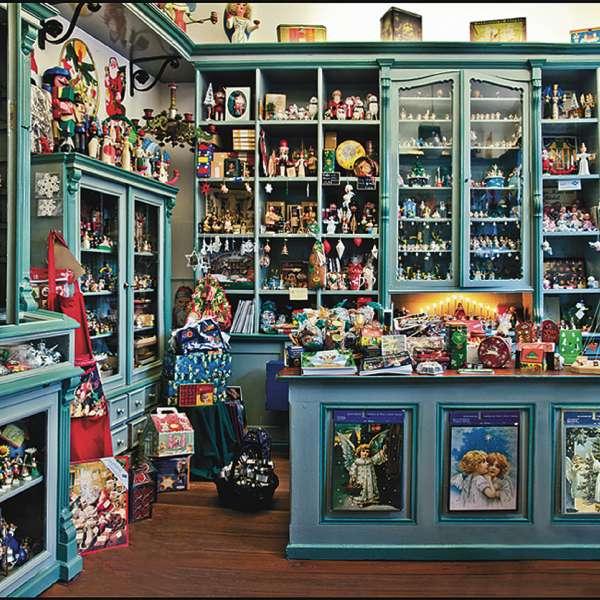 Historisk butik i Weihnachtshaus Husum