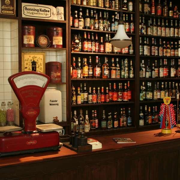 Historisk butik på Flensburger Schifffahrtsmuseum